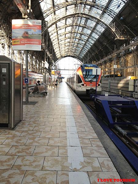 Железнодорожный вокзал в Германии