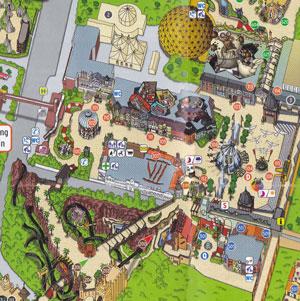 Карта Фантазияленд - парк аттракционов в Германии