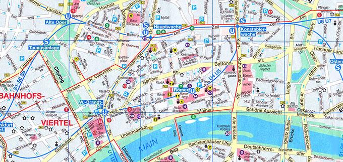 Франкфурт-на-Майне: карта