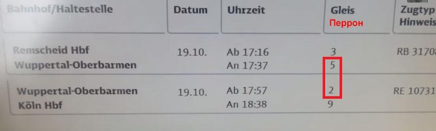 Билет на поезд в Германии